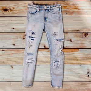 NWT American Eagle Distressed Hi Rise Leggings-6